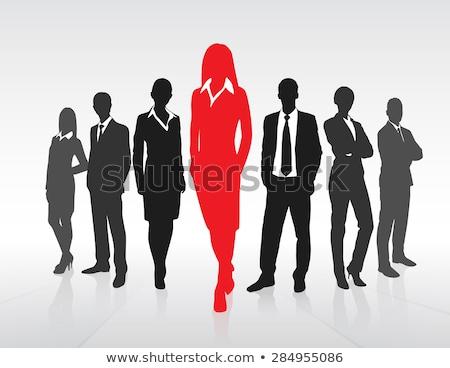 One man leads team. Stock photo © Ansonstock