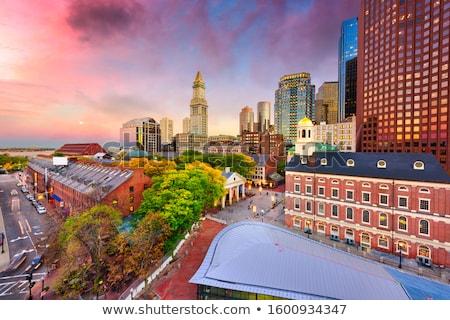 Boston street aerial view Stock photo © rabbit75_sto