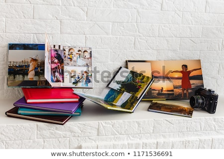 conjunto · papel · fundo · quadro - foto stock © stocksnapper