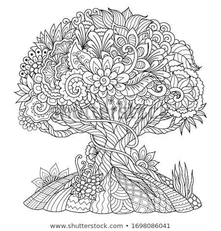 вектора · аннотация · Maple · Leaf · зеленый · дерево · дизайна - Сток-фото © mikemcd