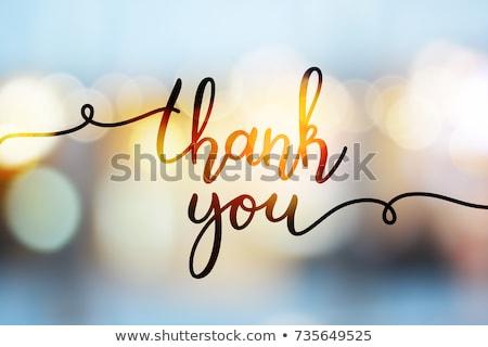 köszönjük · üzenet · tapadó · jegyzet · iroda · asztal - stock fotó © leeser