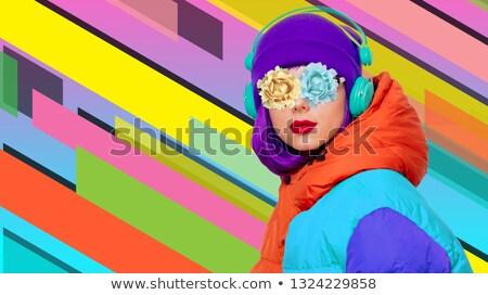 retrato · fresco · belo · jovem · moda - foto stock © HASLOO