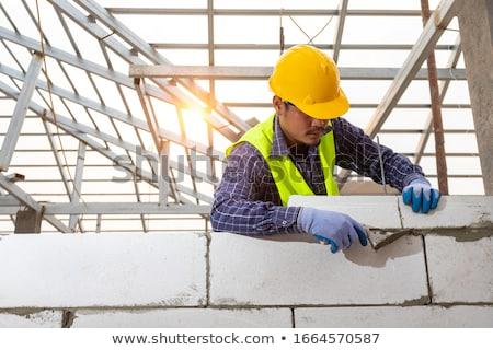 ビルダー 具体的な 家 作業 作業 白 ストックフォト © photography33