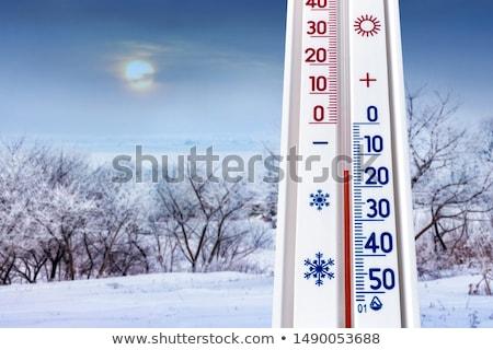 au-dessous · zéro · thermomètre · neige · moins · température - photo stock © photocreo