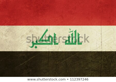 Гранж флаг Ирак старые Vintage гранж текстур Сток-фото © HypnoCreative