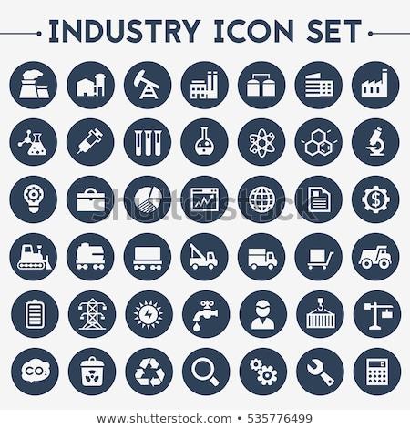 Affaires industrie icônes vecteur bâtiment Photo stock © stoyanh