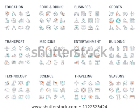 Set of transport icons - extreme sports stock photo © Ecelop