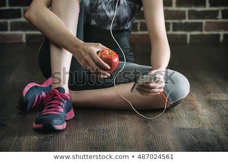nő · elvesz · törik · tornaterem · portré · fitnessz - stock fotó © photography33