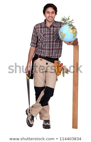 A carpenter promoting ecology. Stock photo © photography33