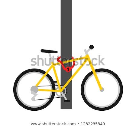 moto · robo · ladrón · apertura · bloqueo · bicicleta - foto stock © njaj