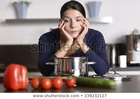 женщину скучный работа по дому смешные скучно мыть Сток-фото © smithore