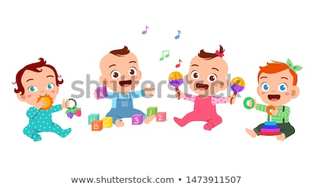 Bebek erkek müzikal ay eski oynamak Stok fotoğraf © Dizski