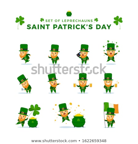 Stock photo: thinking leprechaun