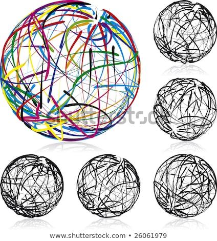 gekleurd · globes · vector · aarde · Blauw - stockfoto © fenton