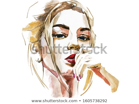 painted a portrait of a woman Stock photo © Aliftin