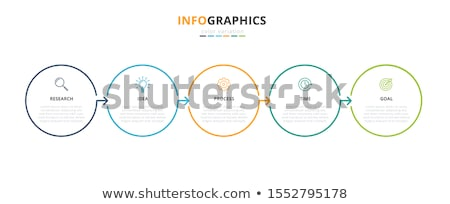 modern infographics steps elements with text Stock photo © havlin_levente