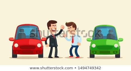 Kettő üzletemberek veszekedik üzlet arc megbeszélés Stock fotó © photography33