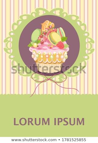 Gooseberry Meringue Cupcakes Stock photo © franky242