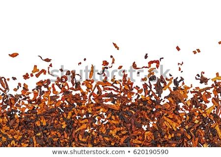 secar · tabaco · textura · marrón · hoja · primer · plano - foto stock © gorgev