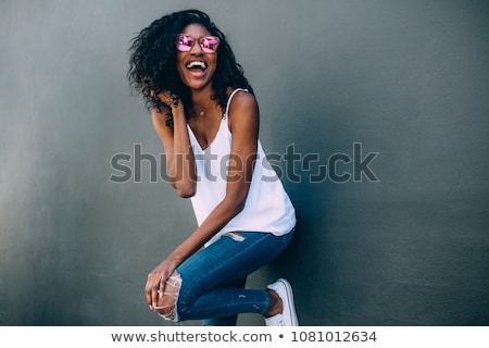 laughing fashionable african woman stock photo © stryjek