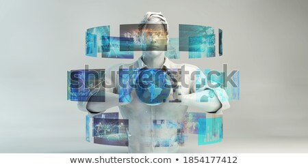 Hand holding a News 3D Sphere  Stock photo © kbuntu