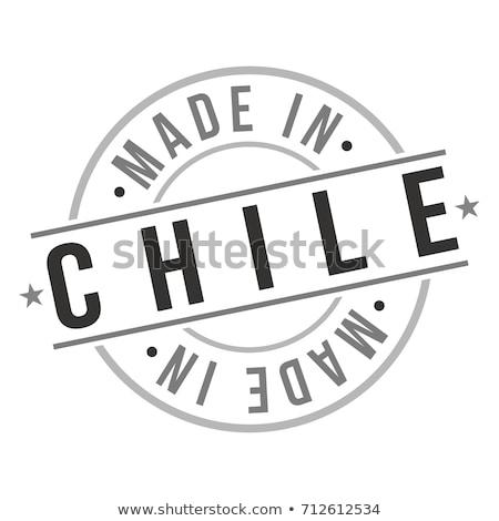 Vektör etiket Şili imzalamak renk satış Stok fotoğraf © perysty