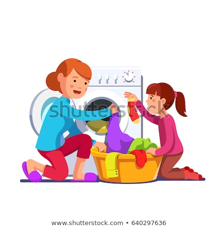 Woman helping mother with the housework Stock photo © photography33