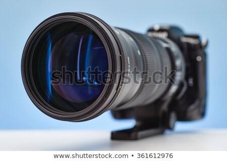 Fotocamera teleobiettivo lenti nero specchio digitale Foto d'archivio © broker