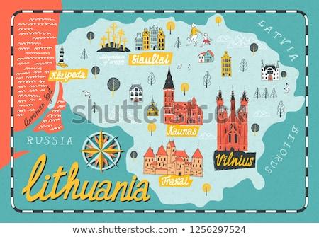 手紙 リトアニア オフィス 紙 抽象的な デザイン ストックフォト © perysty
