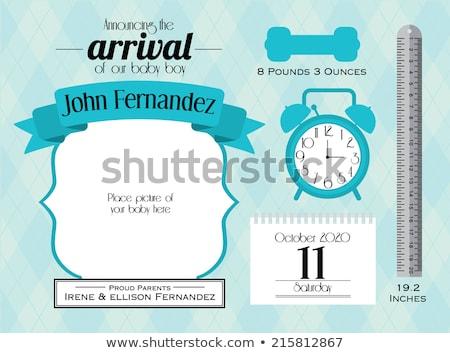 baby announcement card with little boy stock photo © balasoiu