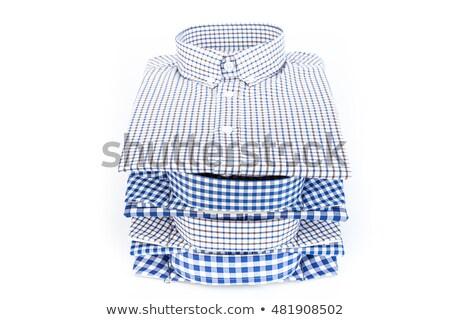 Stack of Plaid Long Sleeved Men's Shirts  Stock photo © zhekos