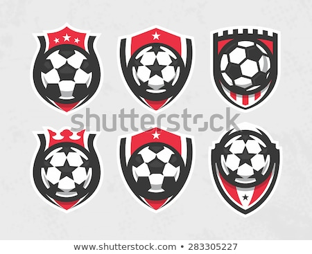 soccer ball vector graphic template with stars stock photo © chromaco