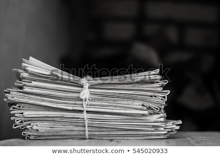 Old newspapers packed Stock photo © HectorSnchz
