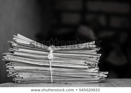 Vieux journaux isolé blanche rétro vintage Photo stock © HectorSnchz