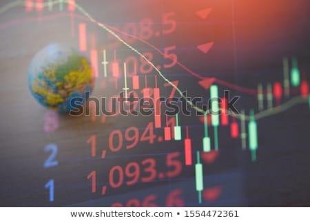 Mundo crise financeira azul fundo financiar cor Foto stock © fantazista