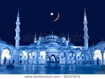 Blue mosque courtyard / Istanbul Stock photo © Taiga