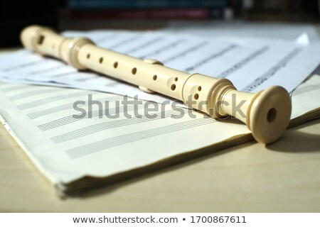 Classical sheet music and flute Stock photo © timbrk