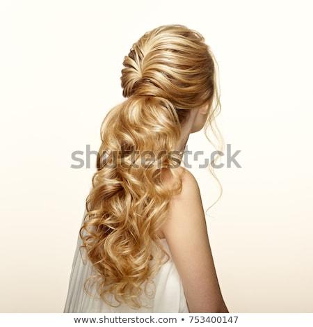 Foto jovem bela mulher magnífico cabelos longos menina Foto stock © Victoria_Andreas