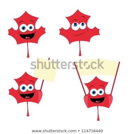 Cute Maple Leaf различный вектора Cartoon знак Сток-фото © pcanzo