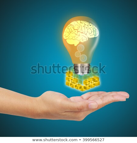 Ideen Gehirn Bildschirm kreative Denken denken Stock foto © stuartmiles