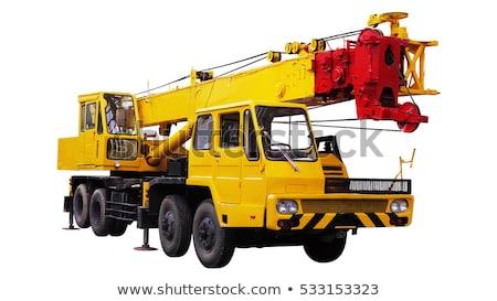 Hidrolik vinç kamyon yalıtılmış beyaz teknoloji Stok fotoğraf © goce