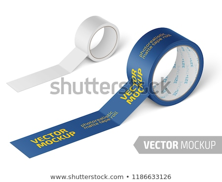 a roll of white adhesive tape Stock photo © ozaiachin