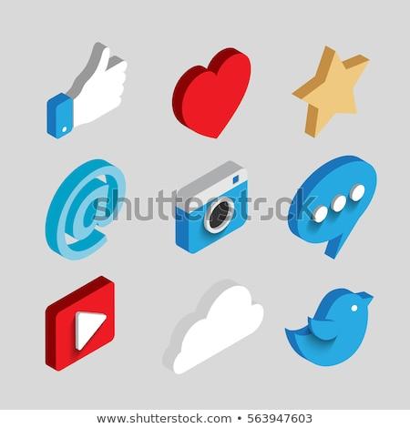 Közösségi háló kék madár média közösségi média telefon Stock fotó © Luppload