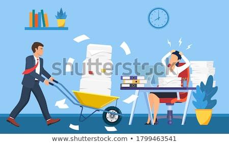 vallen · mappen · vrouw · kantoor · handen - stockfoto © wavebreak_media