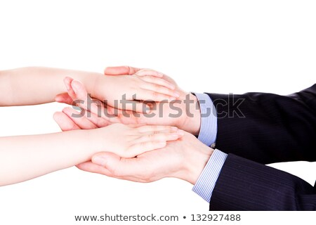 Child Holding Fathers Hand Trust Togethterness And Support Concept Foto d'archivio © Len44ik