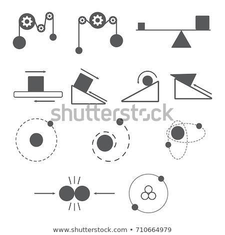 Energy Equation Icon Set Stock photo © cteconsulting