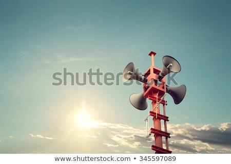полюс 3d визуализации синий связи воздуха Сток-фото © Florisvis