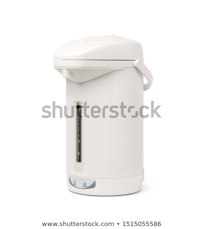 Elétrico bule vermelho em pé branco Foto stock © unweit