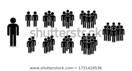 Avatar pessoas ícones preto jovem cabeça Foto stock © carbouval