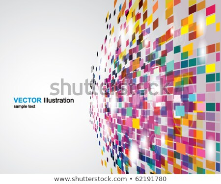 Magenta colored perspective mosaic vector background. Stock photo © tuulijumala